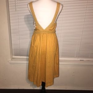H&M Dresses - NWT H&M Mustard Embroidered Dress Size 8